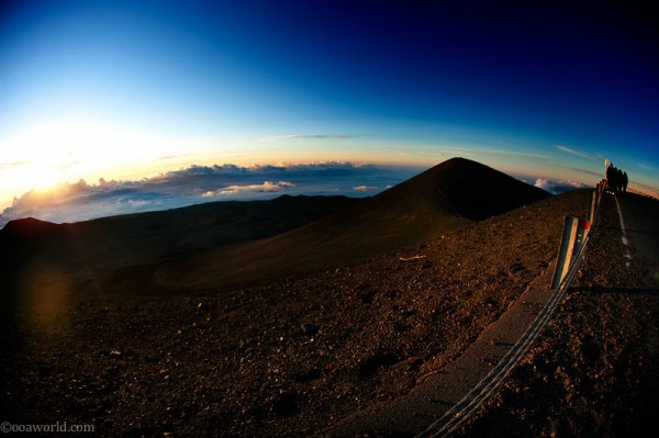 Hawaii, Maune Kea Observatory at dawn