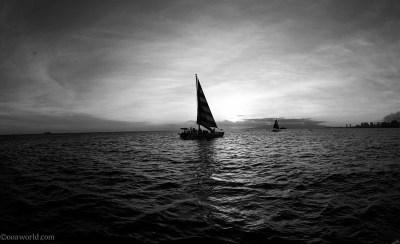 Sunset sailing, Hawaii