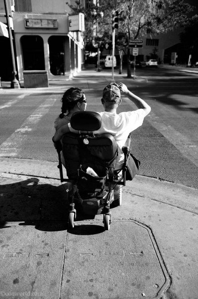 El Paso, sharing a wheelchair