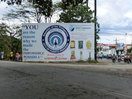 puerto princesa sign philippines photo ooaworld Rolling Coconut