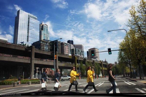 Seattle crossing dopple USA road trip photo ooaworld