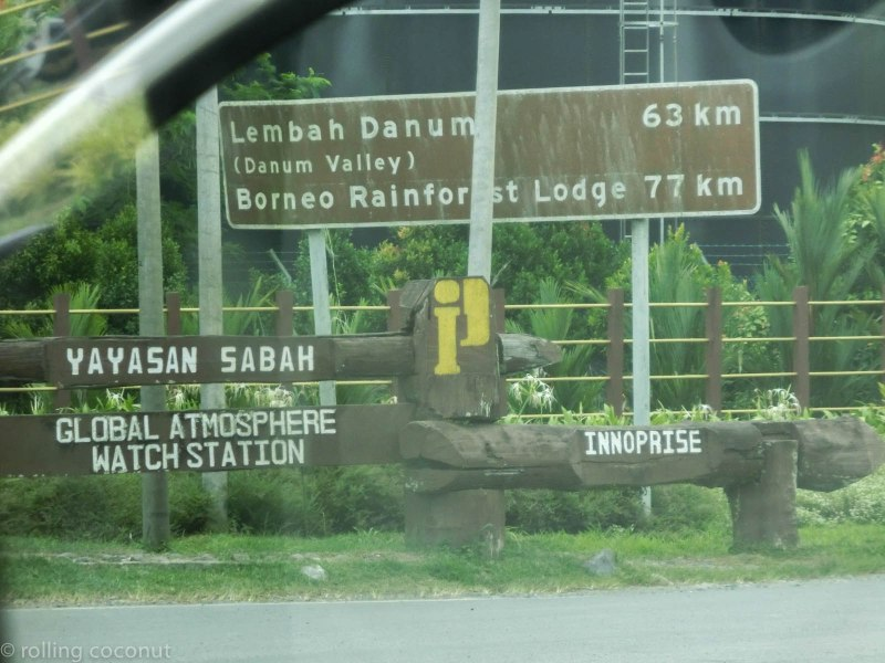 Road Sign to Danum Valley