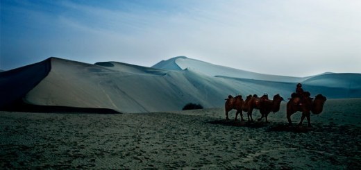 china blue desert photo ooaworld
