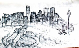 denverskylinesketch Travel Drawings: Road sketches, part 2 ooaworld photo