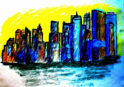 nyc skyline drawing art ooaworld ooaddle