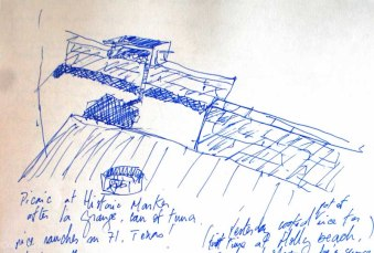 Travel drawings: road sketches