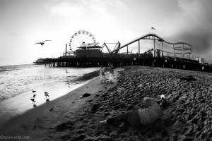 santa monica miseenabimeperspectives Los Angeles, an end to a USA Road Trip   Travel Writing ooaworld photo