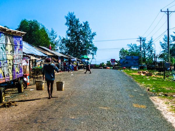 otres beach road cambodia photo ooaworld Rolling Coconut