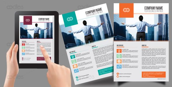 Business and direct marketing flyer template - oodlethemes - marketing flyer