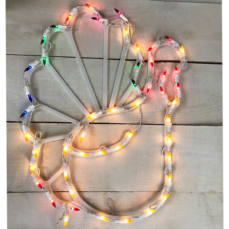 "17"" Lighted Thanksgiving Turkey Window Decoration"