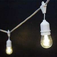 White LED Commercial String Lights - 21' - 10 LED Lights