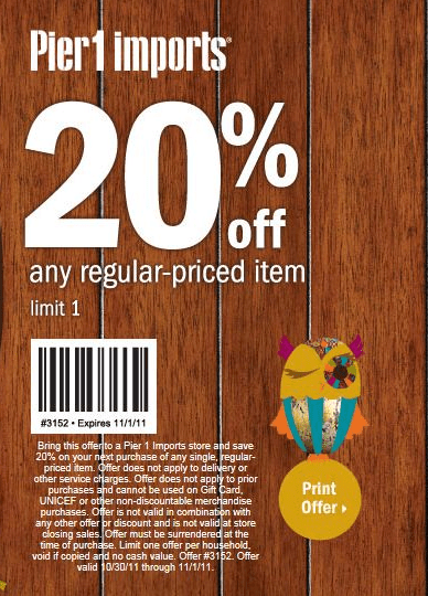 pier 1 imports 20 off printable coupon