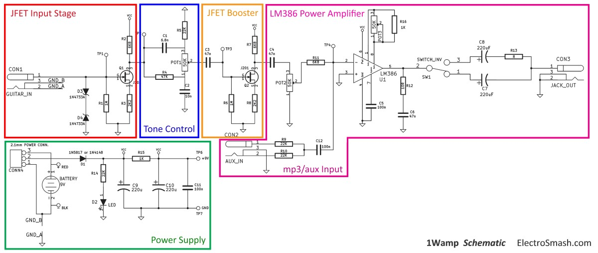 schematic circuit diagram of easy