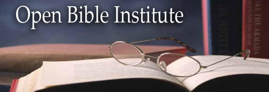 Open Bible Institute Banner
