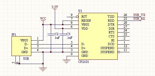 usb connection schematic