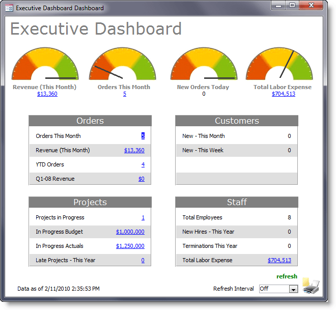 ms access project management template
