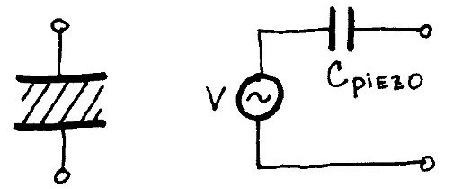 piezoelectric plates and an equivalent circuit for a piezoelectric