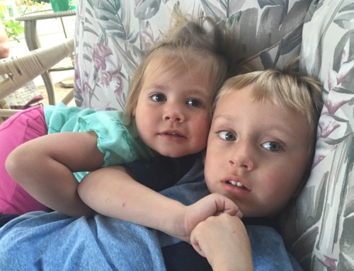 Great niece Journee, great nephew Lucas