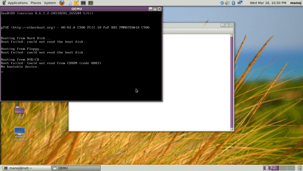 Testing QEMU after installation