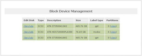 Block device management