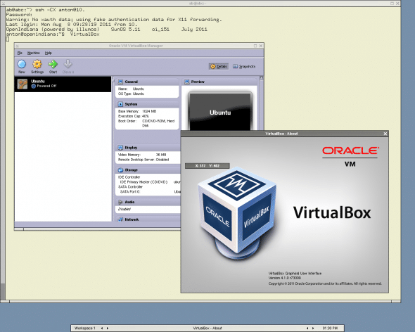 Running VirtualBox in OpenIndiana