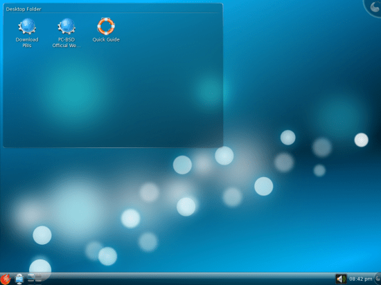 Figure 1: Default desktop