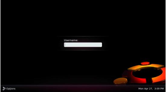 The new login screen