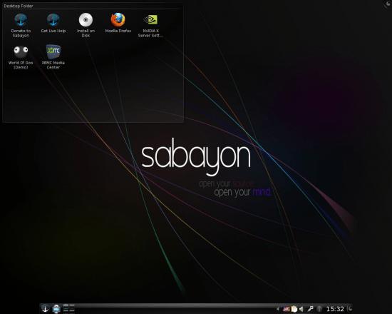 Figure 1: KDE Live desktop