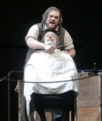 SWEENEY TODD (400) KNIFE AT THROAT