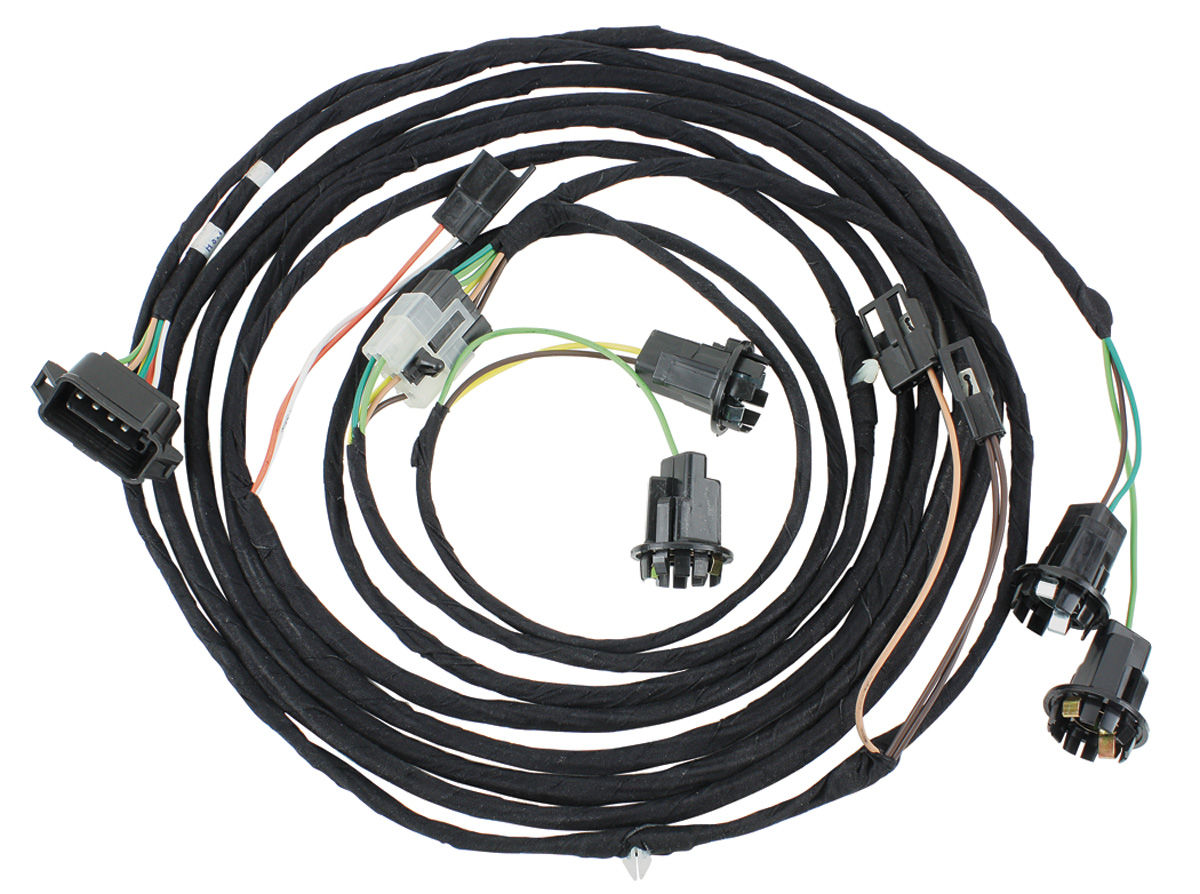 exposed wiring harness