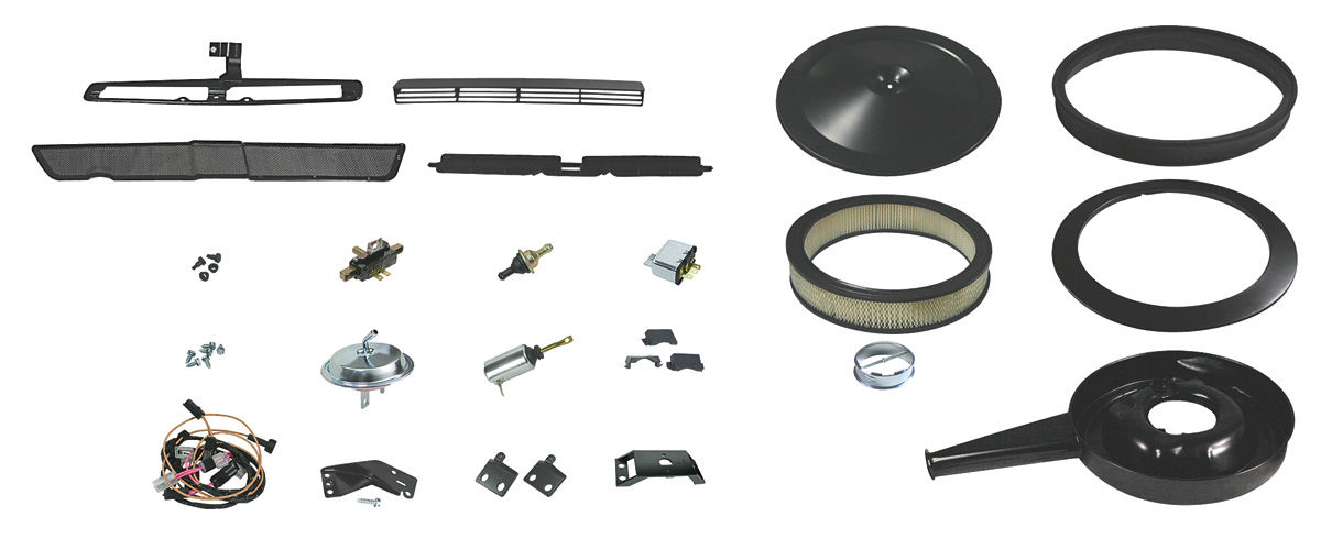 Cowl Induction Kit, 1970-72 Complete complete, w/spacer Fits 1970-72