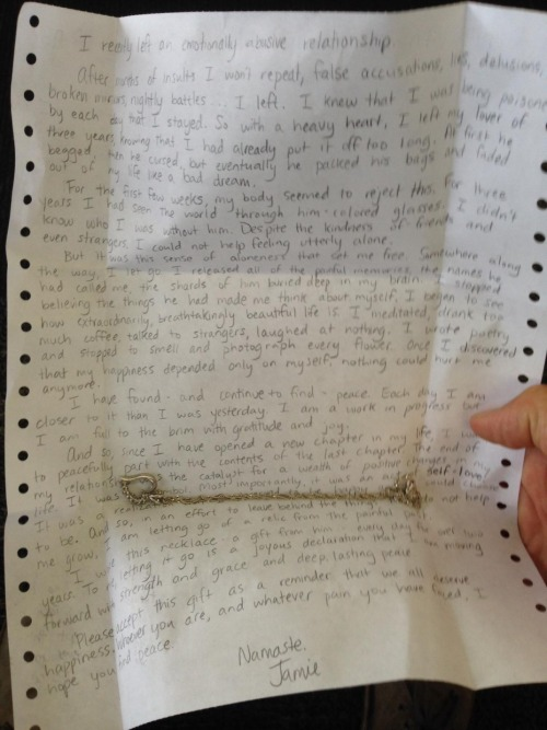 Open Letter I recently left an emotionally abusive relationship