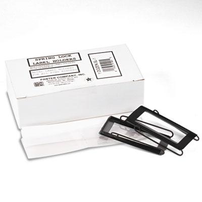 Panter Company Spring-Lock Metal Label Holders for Binders Select