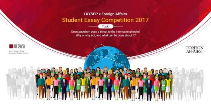 Foreign Affairs/Lee Kuan Yew School of Public Policy 2017 Student