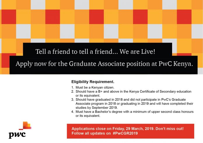 PricewaterhouseCoopers (PwC) Kenya Graduate Associate Program 2019
