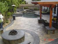 Stone Patio & Fire Pit Backyard Remodel - OPR Pools