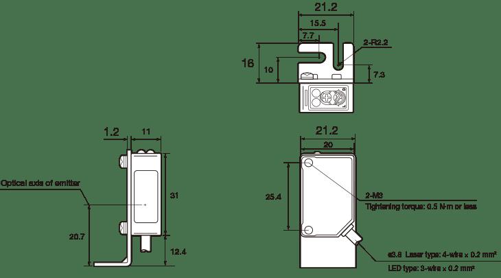photoelectric sensor wiring diagram laser photoelectric sensor