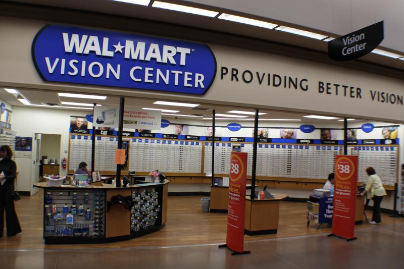 WALMART OPTICAL CENTER Products Services Prices