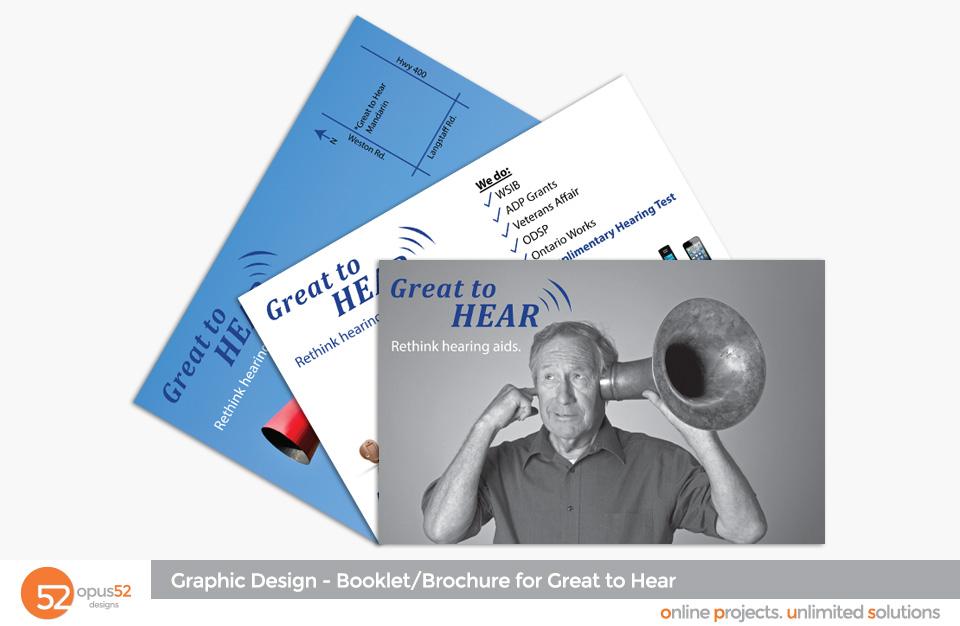Booklets and Brochures Opus52 Designs