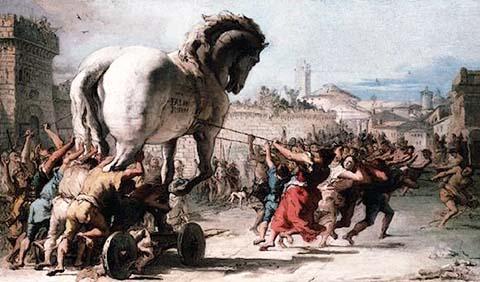 Un cavallo è stato regalato ai Cristiani