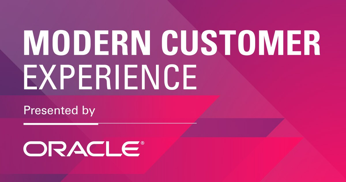 Modern Customer Experience presented by Oracle March 19-21, 2019