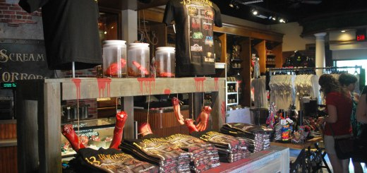 A shot of the Shop of Horrors and all its gruesomeness. The store opens with the start of fall.