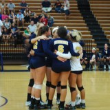 The Steinbrenner varsity volleyball team defeated Gaither Tuesday night at home for their senior night and last district home game. The Warriors are undefeated in district play.