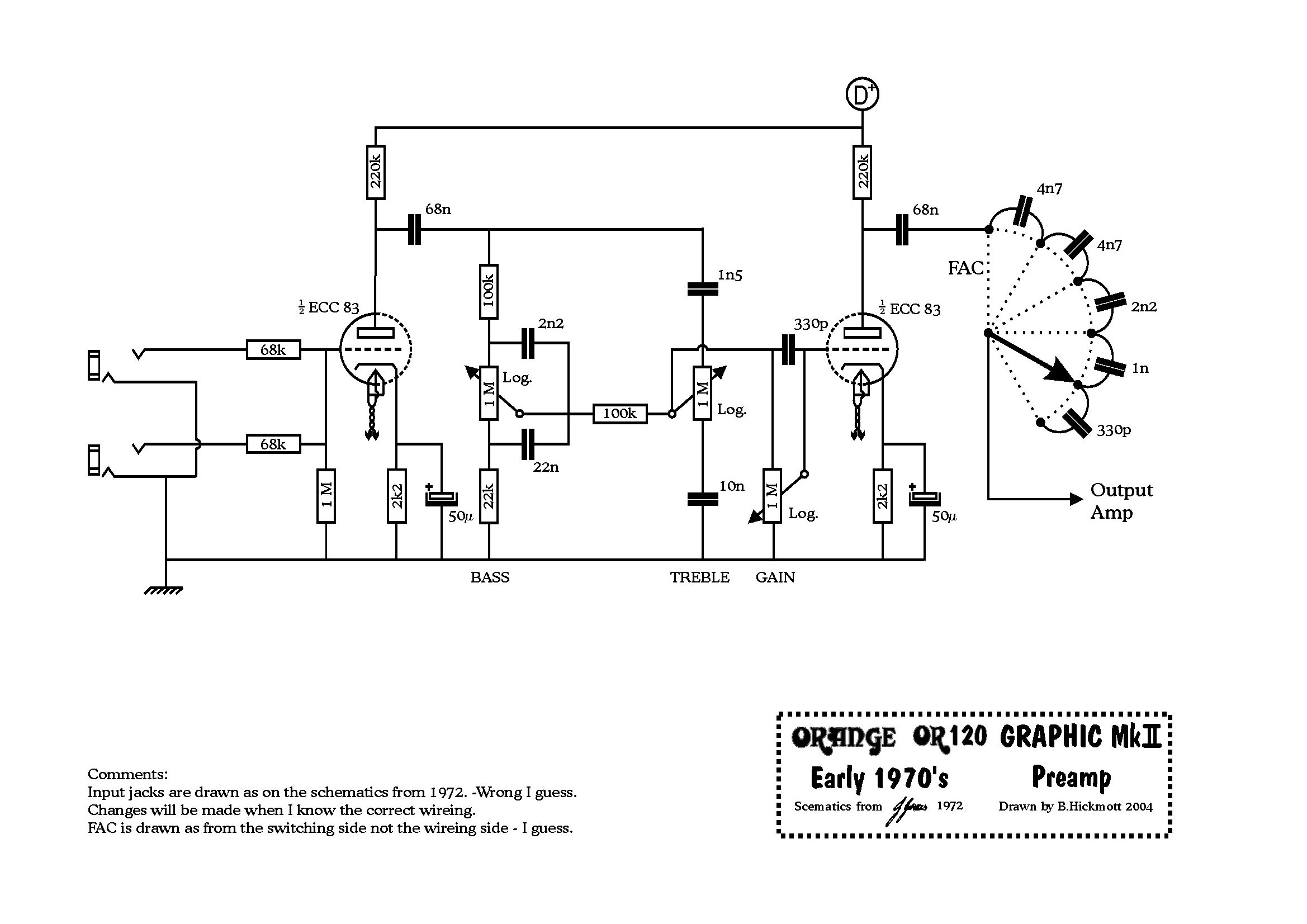 Preamplifier Guitar Control Circuit Auto Electrical Wiring Diagram Microphone With Tlc251 Tube Schematic Clock
