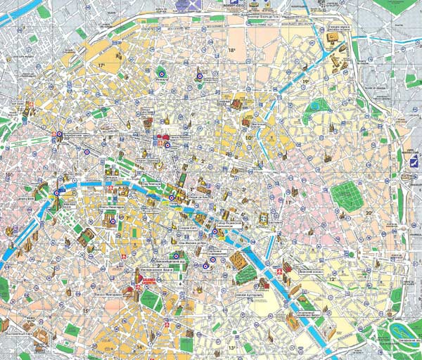 Large Paris Maps for Free Download and Print High-Resolution and