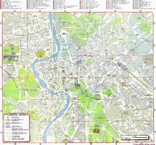 Large Rome Maps for Free Download and Print High-Resolution and