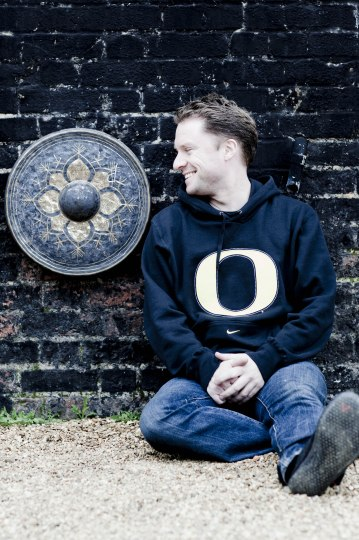 Colin Currie shows his Oregon spirit. Photo: Marco Borggreve