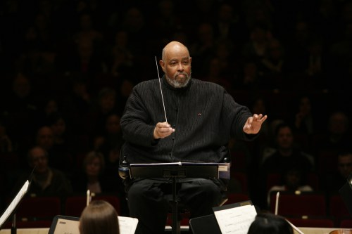 James DePeist conducting. Photo: Richard Termine/Juilliard