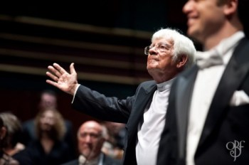 Helmuth Rilling returns to the Oregon Bach Festival to lead Bach's St. John Passion.
