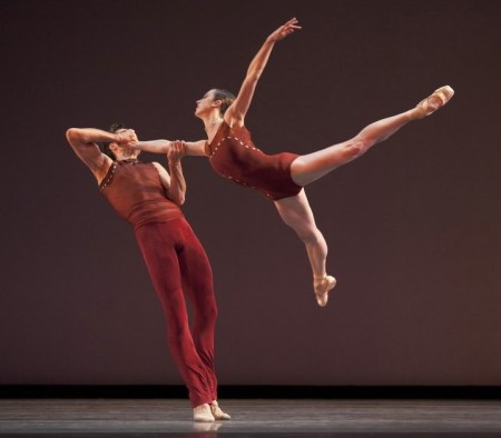 "Alison Roper, around whom OBT's current season is built, with Artiur Sultanov in Nicol Fonte's ""Bolero,"" 2010. Photo: Blaine Truitt Covert"